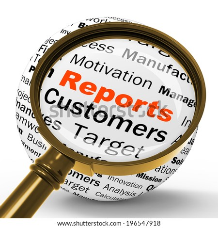 Reports Magnifier Definition Meaning Statistical Diagram Or Company Financial Reviews