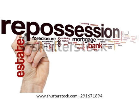 Repossession word cloud concept - stock photo