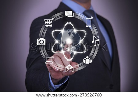 Representation of Digital Communication Conceptual - stock photo