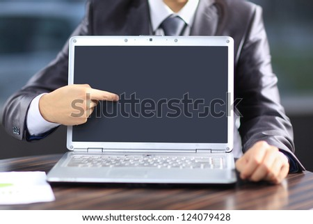 Representation of the goods businessman. - stock photo