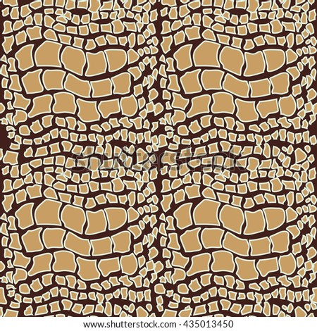 Reptile skin. Abstract seamless pattern. Natural leather texture.   - stock photo