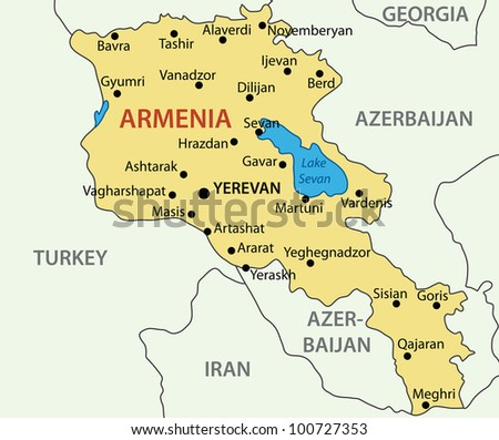 Republic Armenia Map Stock Illustration Shutterstock - Armenia map