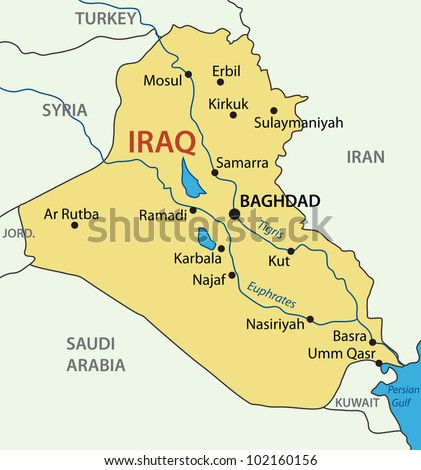 Republic Iraq Map Stock Illustration Shutterstock - Iraq map