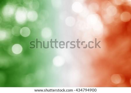 REPUBLIC OF IRELAND : National flag. Soft blurred bokeh natural background. Abstract gradient desktop wallpaper. - stock photo