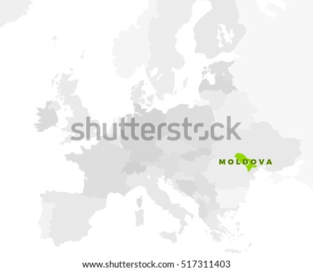 Republic Moldova Location Modern Detailed Map Stock Illustration