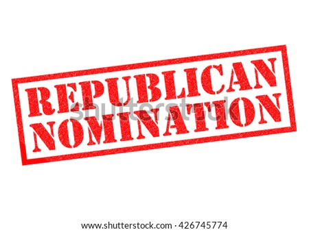 REPUBLICAN NOMINATION red Rubber Stamp over a white background. - stock photo