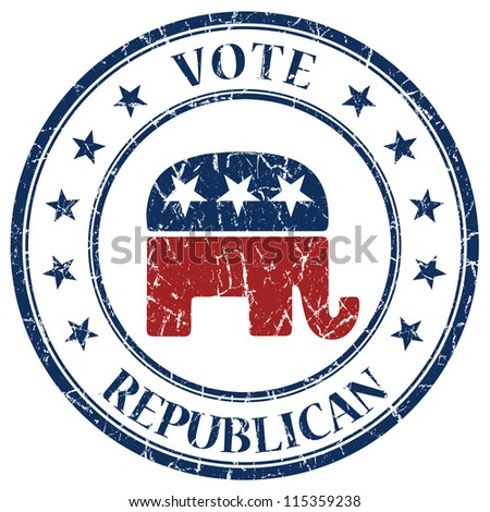 Republican stamp - stock photo