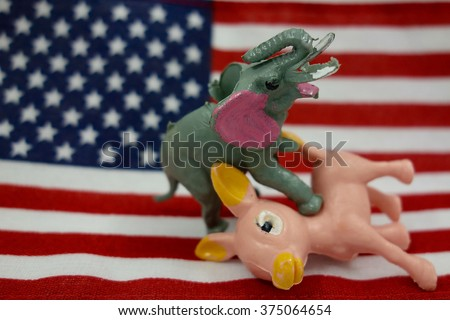 Republicans Win Election - stock photo