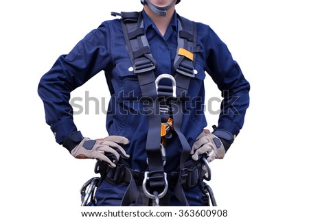 Rescue high building, equipment set  . - stock photo