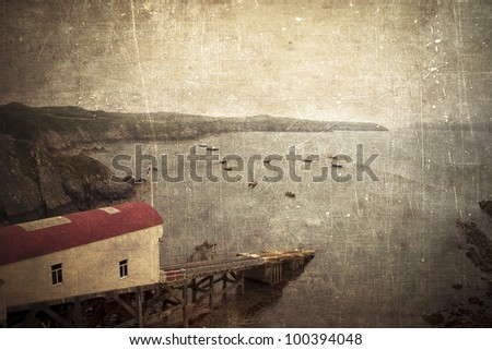 Rescue station in Wales - stock photo