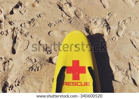 Rescue surfboard - stock photo