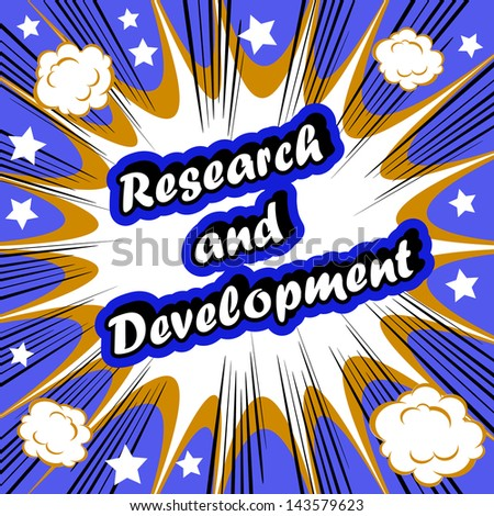 Research and Development Business background tag