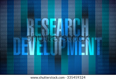 research development binary sign concept illustration design icon graphic