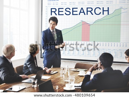 Research Graphs Business Marketing Goals concept