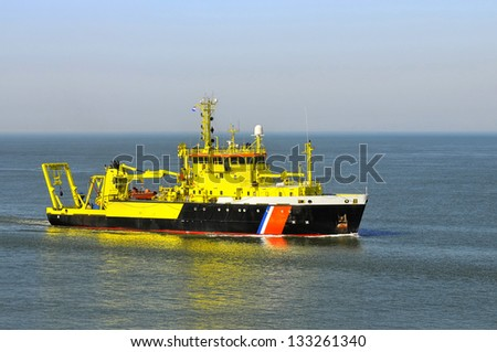 Research/survey vessel - stock photo
