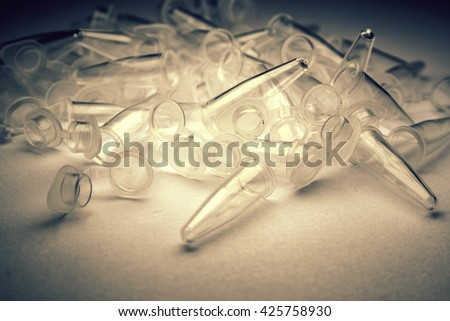 Research Vials  - stock photo
