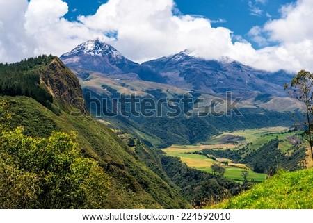 Reserva Ecologica Los Ilinizas, Ecuador - stock photo