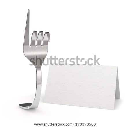 reservation at a restaurant - stock photo