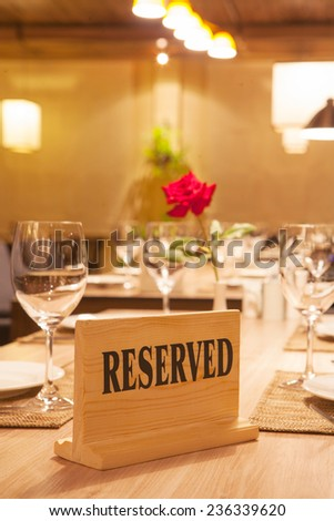 reserved - stock photo