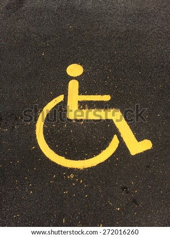 RESERVED FOR HANDICAPPED - stock photo