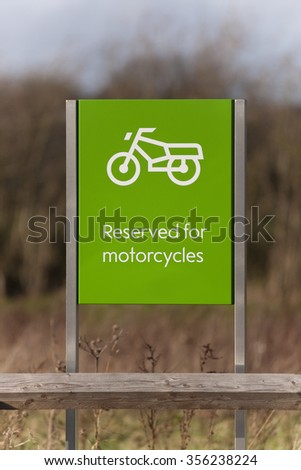 Reserved For Motocycles Sign - stock photo