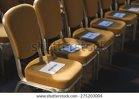 Reserved seat - stock photo