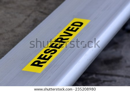 Reserved seat in a stadium. - stock photo