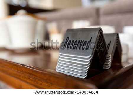 Reserved table in a restaurant - stock photo