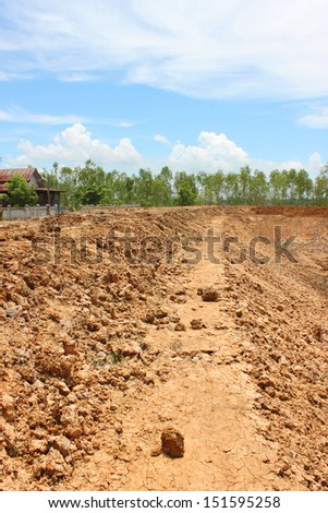 reservoir development of public project in rural Thailand - stock photo