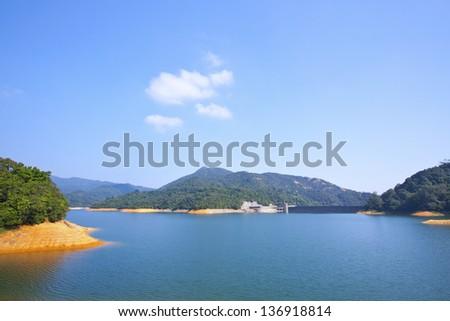 Reservoir in Hong Kong - stock photo