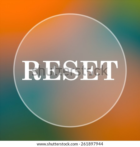Reset icon. Internet button on colored  background.  - stock photo