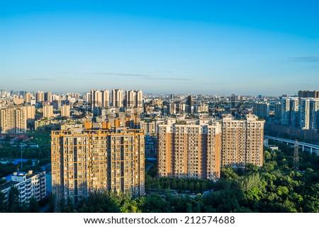 residence building in Chengdu, China - stock photo