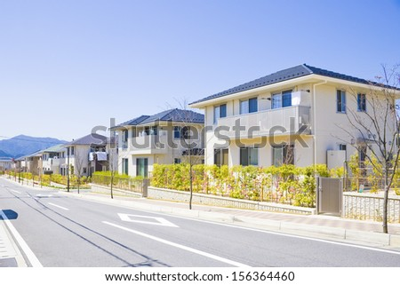 Residential apartment in a row - stock photo