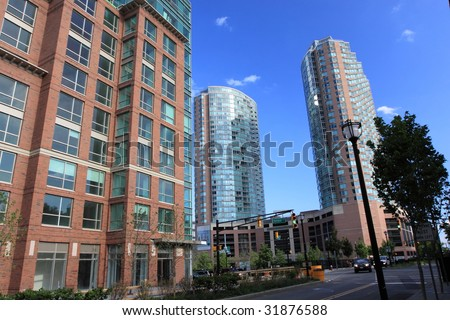 Residential Area in New Jersey - stock photo