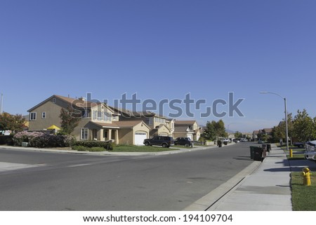 Residential area of the United States