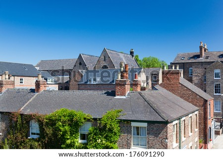 Residential area of York, a city in North Yorkshire, England - stock photo
