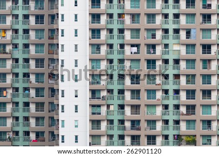 Residential Building in front - stock photo
