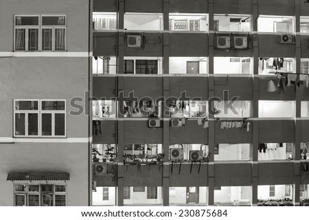 residential building in Hong Kong - stock photo