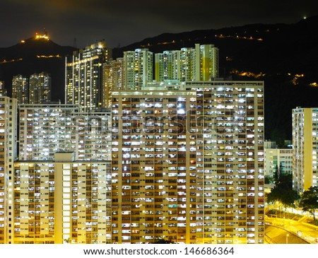 Residential building in the city - stock photo