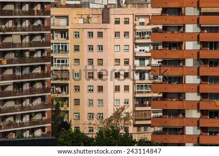 Residential buildings in Barcelona, Catalonia, Spain, Europe