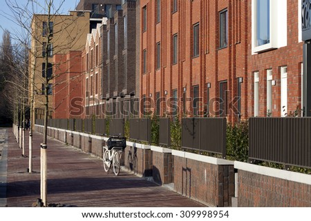 Residential district Crooswijk in Rotterdam, the Netherlands - stock photo