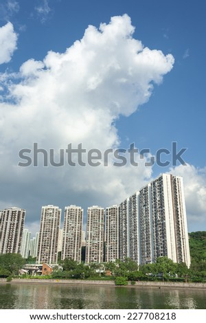 Residential district of Hong Kong - stock photo