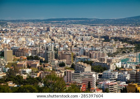 residential district of Palma de Mallorca, Spain - stock photo