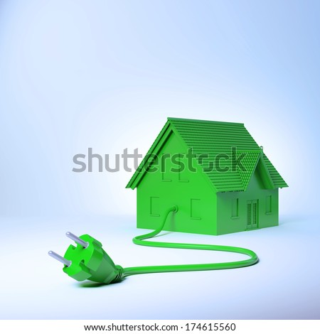 Residential green energy and power consumption concept