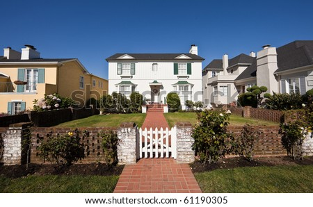 Residential homes. Average American two-story residential home. - stock photo