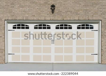 Residential house garage door  - stock photo