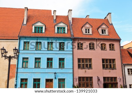 residential houses in Old town of Riga