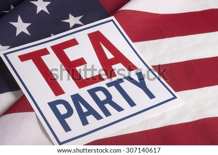resolution american flag with sign Tea Party