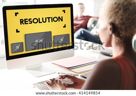 Resolution Digital Screen Ultra Technology Display Concept - stock photo