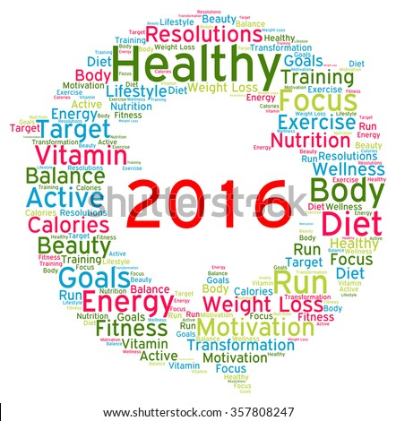 Resolutions 2016 health word cloud
